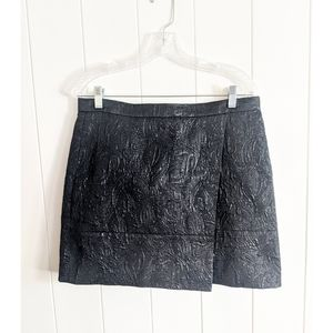 J. Crew metallic Jacquard wrap mini skirt sz 10